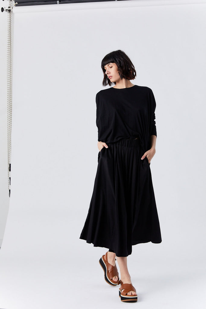 Drape Top, Black