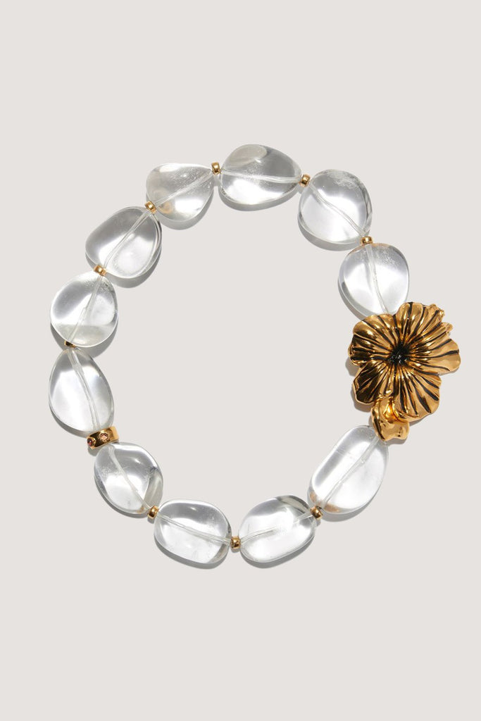 Brindisi Collar, Clear & Gold