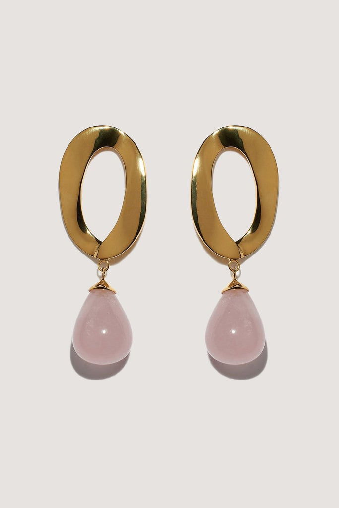 Lizzie Fortunato - Pelican Earrings, Gold & Rose