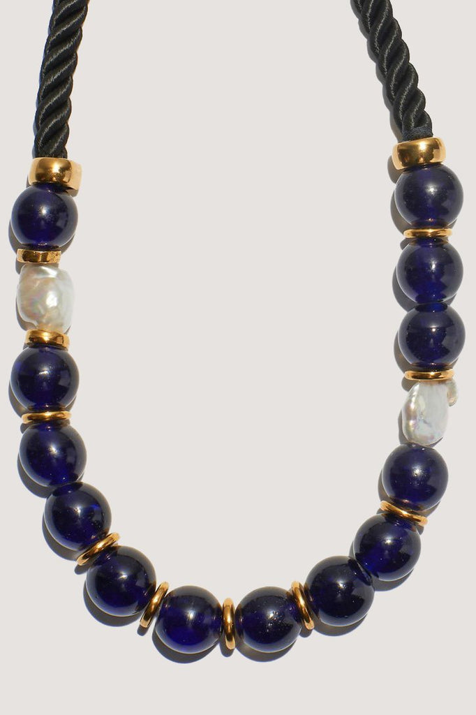 Lizzie Fortunato - Ripley Necklace, Cobalt & Pearl