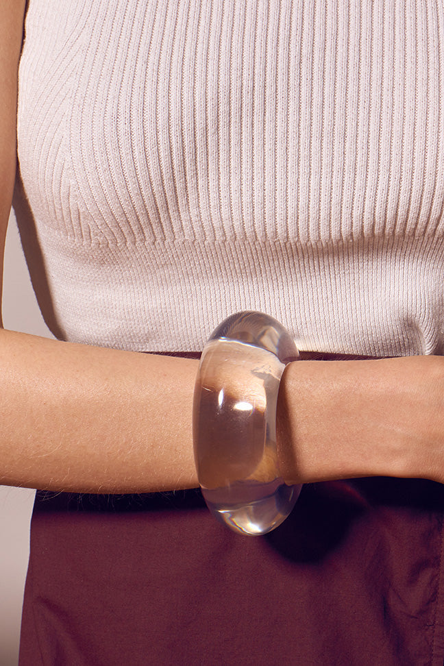 Lizzie Fortunato - Arc Cuff in Clear
