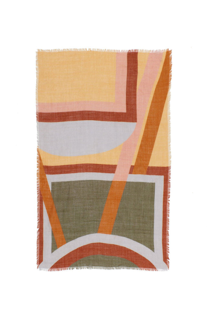 Large Graphic Stella Scarf, Multi