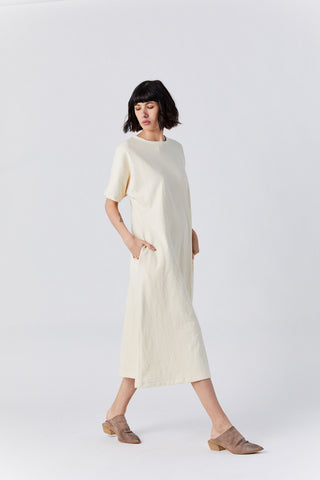 Dolman Tee Dress, Bone