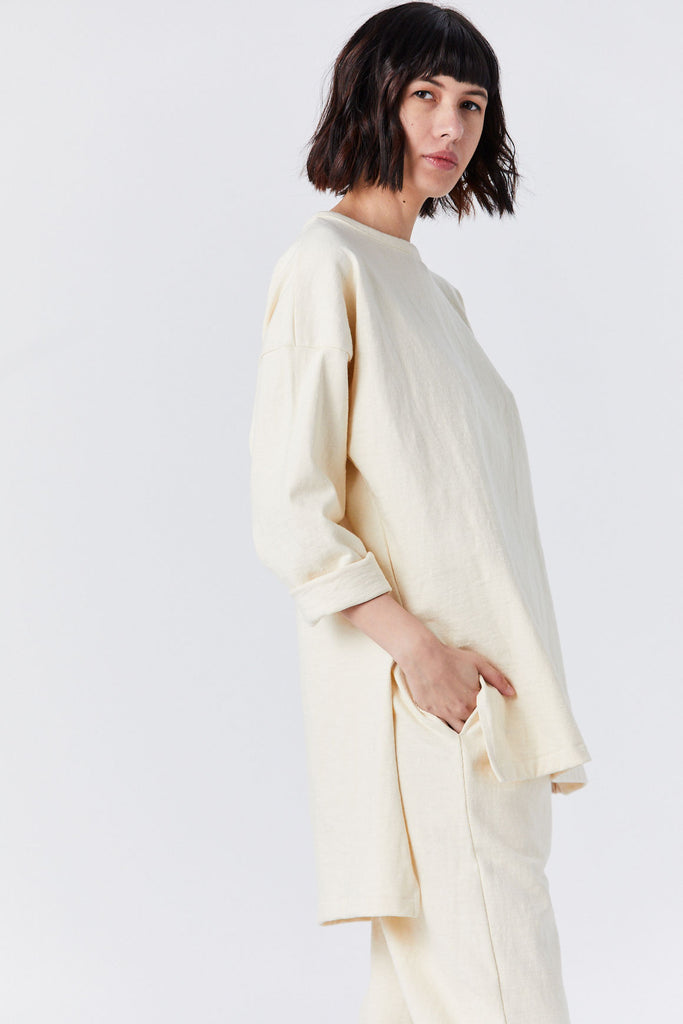 Oversized Tunic, Bone