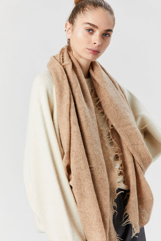 Fringe Scarf, Light Camel