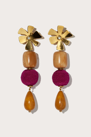 carnival earrings, GOLD