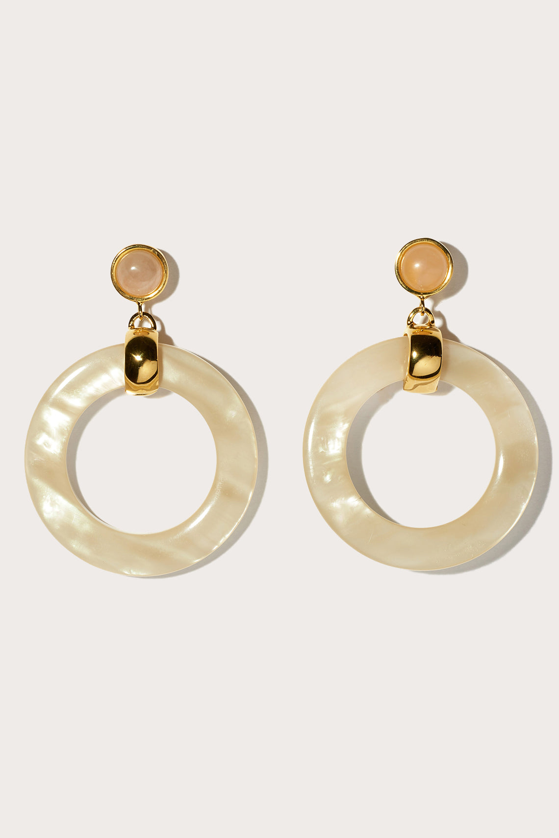 Lizzie Fortunato - sun bleached hoops, faux pearl