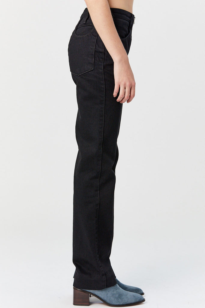 LOROD - Zip Through Jeans, Black