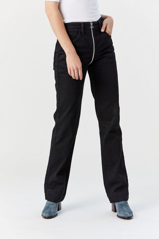 Zip Through Jeans, Black