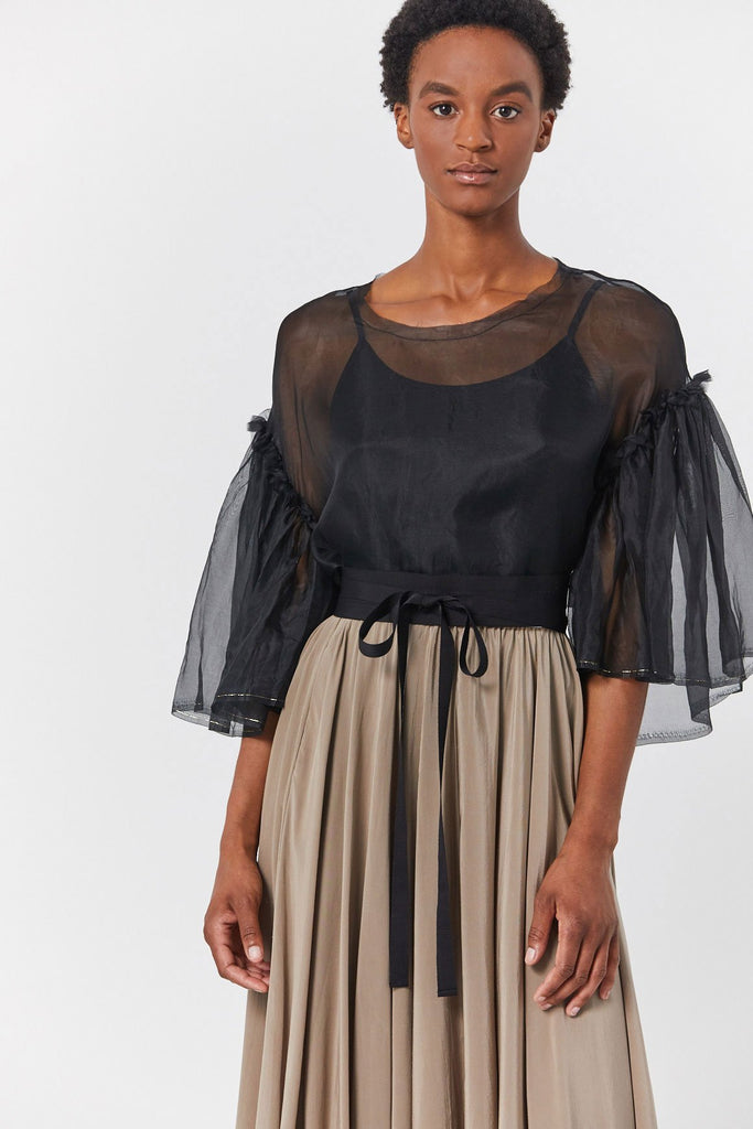 Organza Top, Black