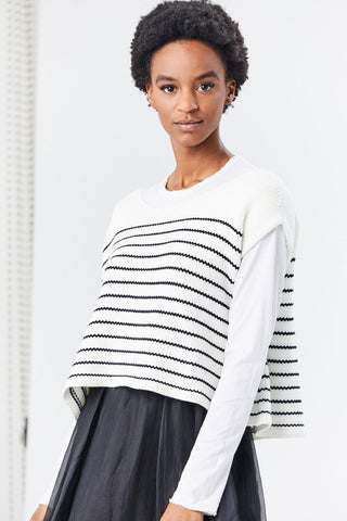 Modal Blend Knit Top, Stripe