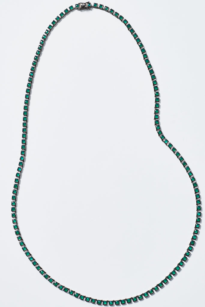 Nakard by Nak Armstrong - opera onyx tile necklace, green