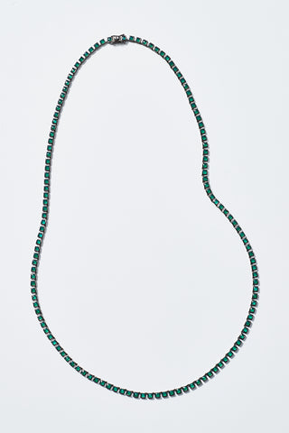 opera onyx tile necklace, green