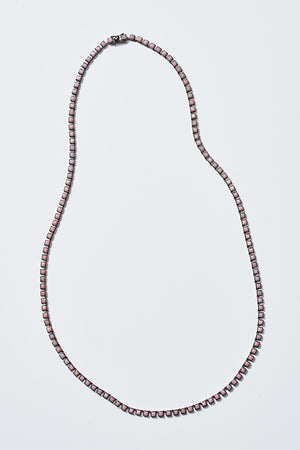 Nakard by Nak Armstrong - tile opal opera necklace, pink