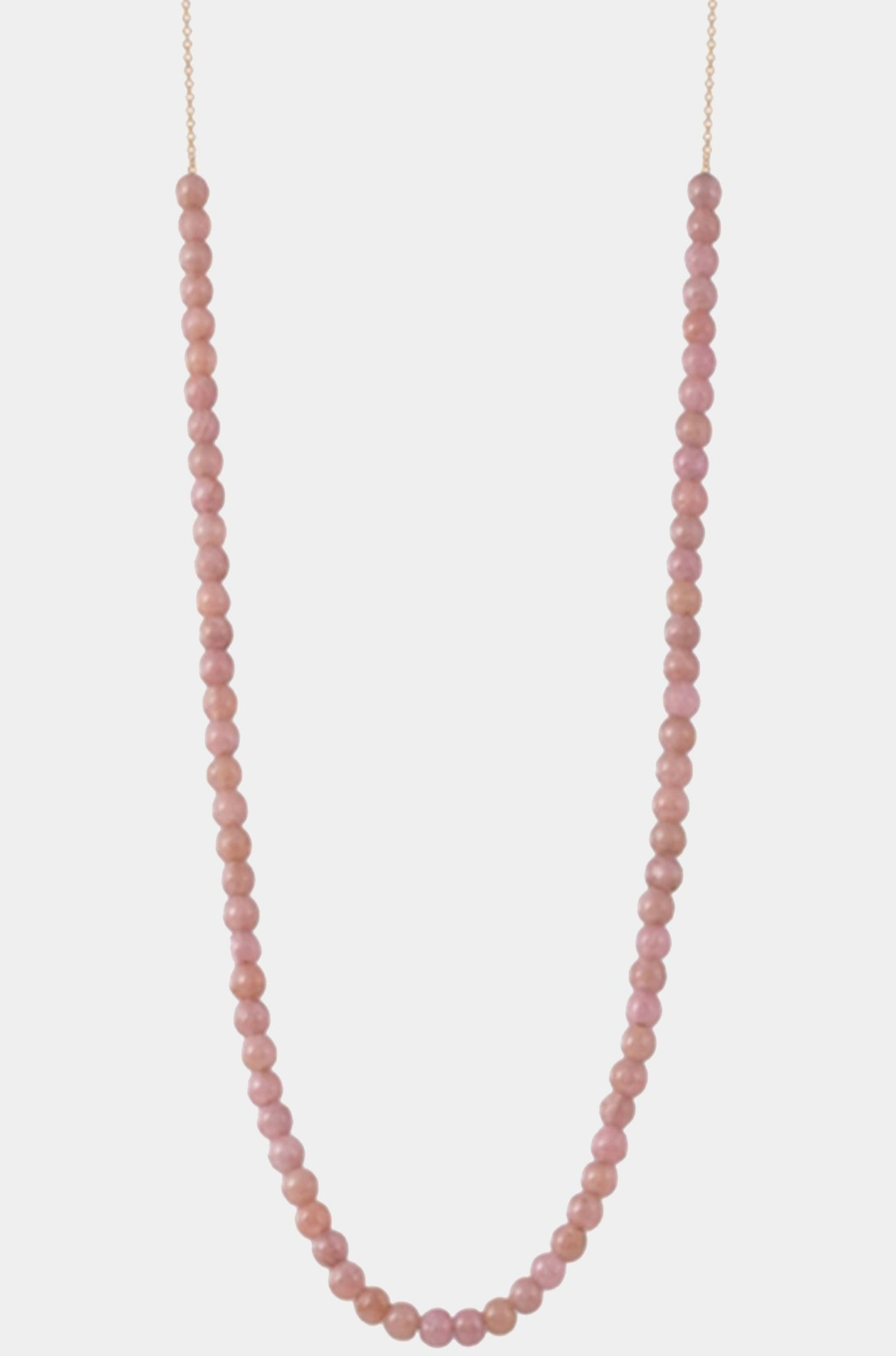 Ginette NY - maria mini necklace, rhodocrosite
