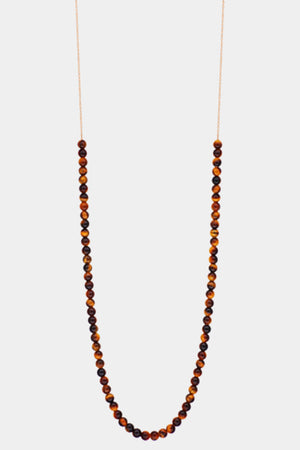 Ginette NY - maria mini boulier necklace, tigers eye