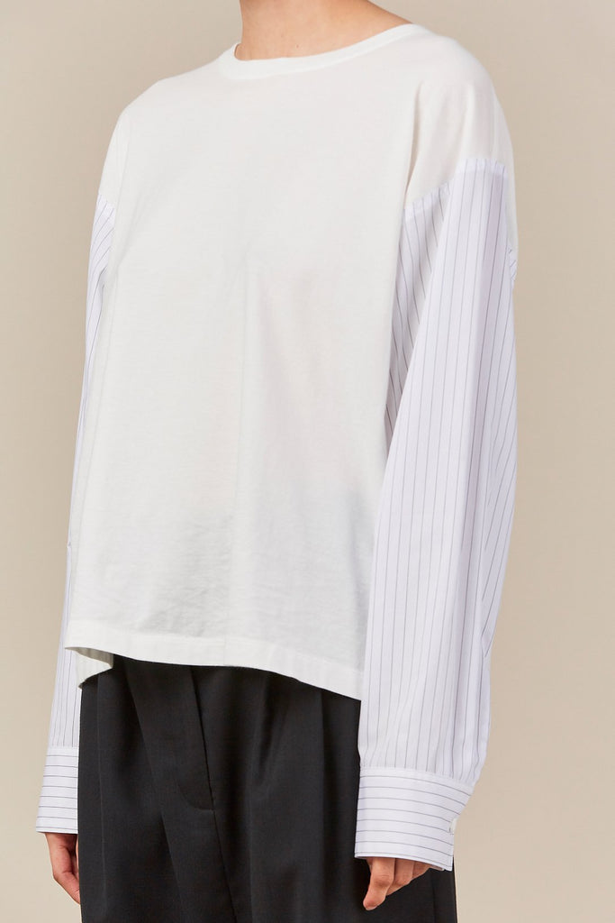 MM6 Maison Margiela - striped sleeve sweatshirt