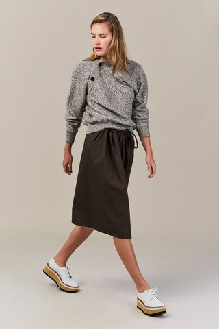 Sweater with Asymmetric Collar