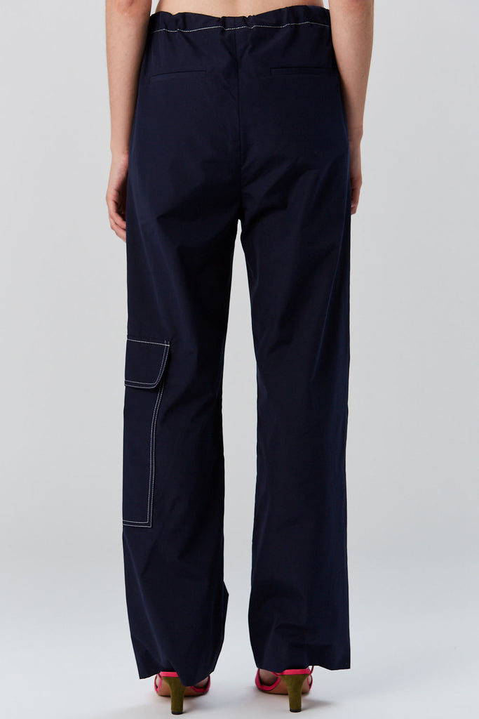MARNI - Cotton Poplin Trouser, Navy