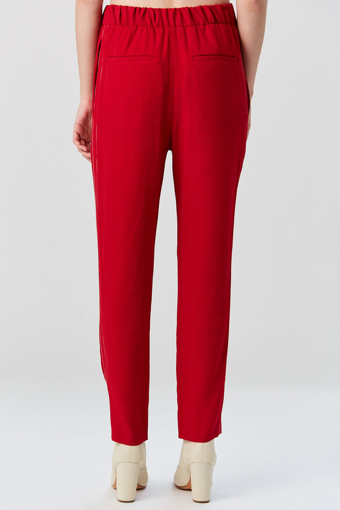 Marni - Crepe Envers Satin Trouser, Red