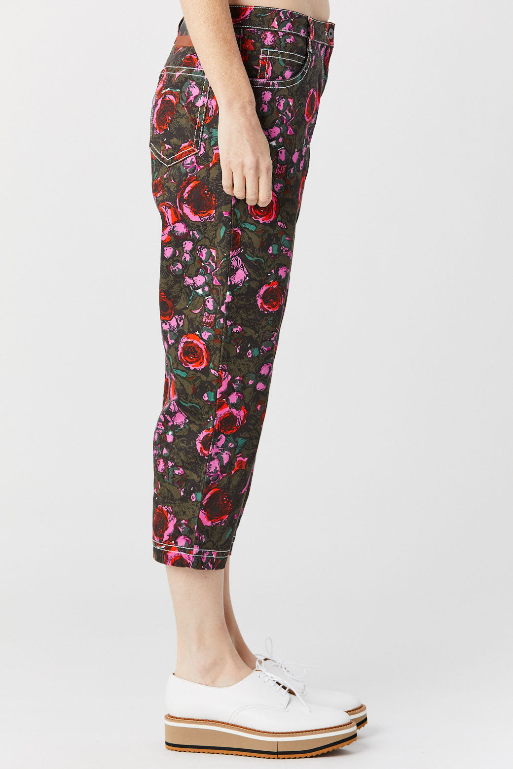 MARNI - Cropped Jeans, Flower Print