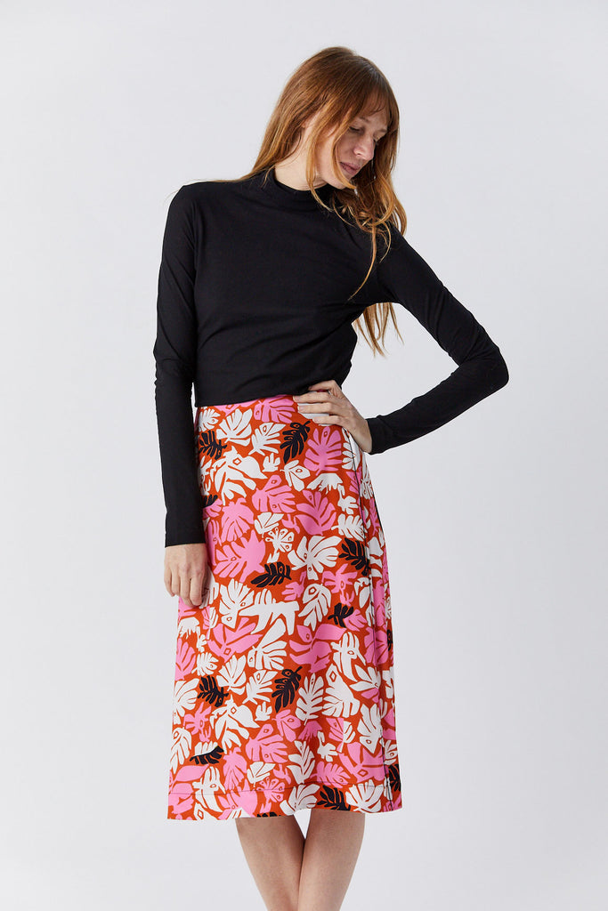 Skirt, Leaves Print