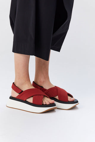 Wedge Sandal, Red