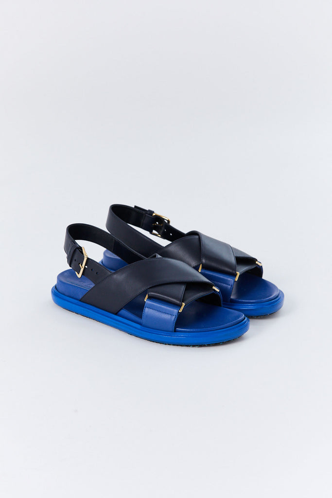 Fussbett Sandals, Black & Blue