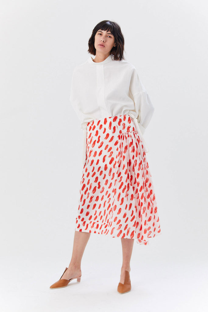 Skirt, White & Red