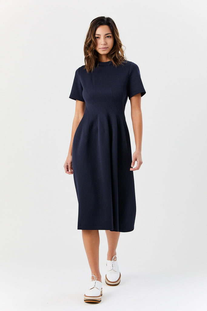 Short Sleeve Dress, Deep Blue