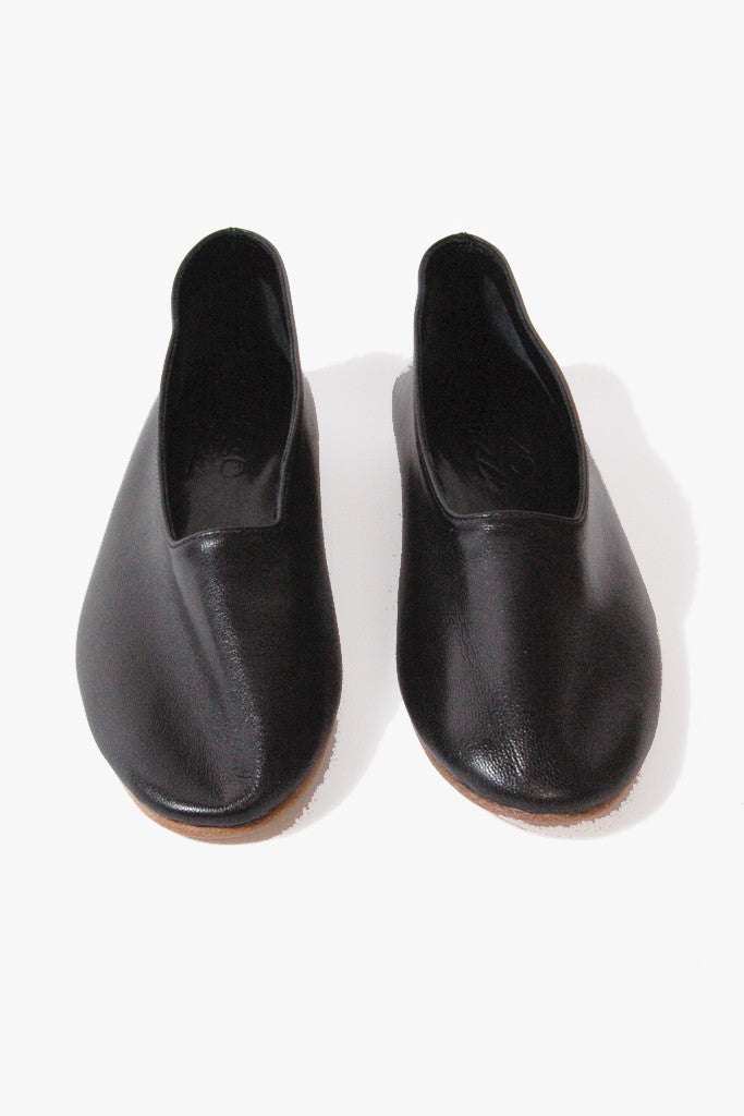 Leather Glove Flats, Black by Martiniano @ Kick Pleat - 7