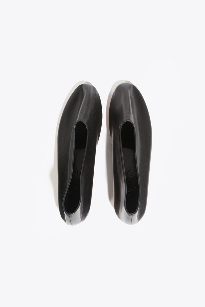 Leather Glove Flats, Black by Martiniano @ Kick Pleat - 6
