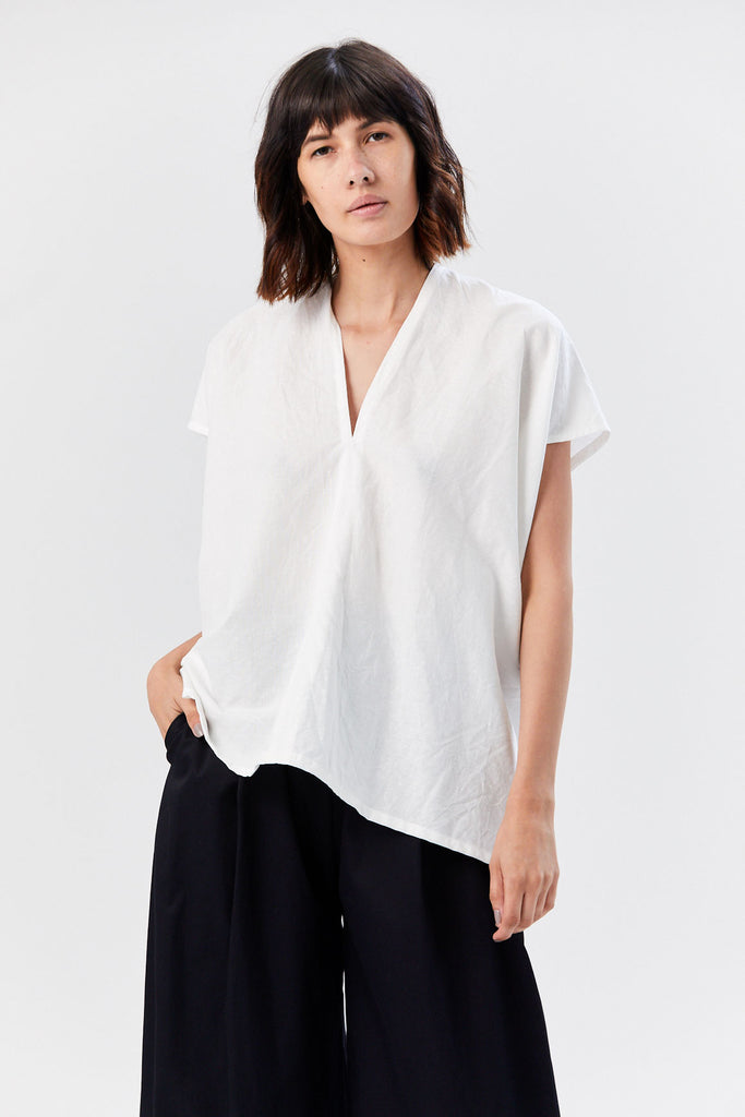 Linen Everyday Top, White