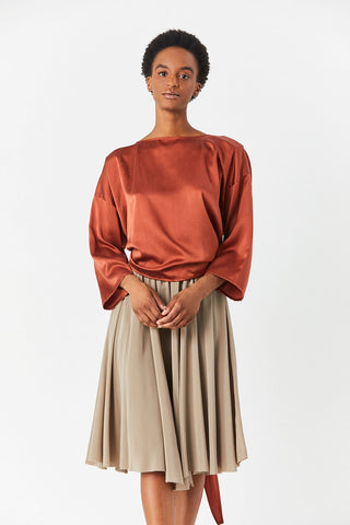 Wrap Top, Rust