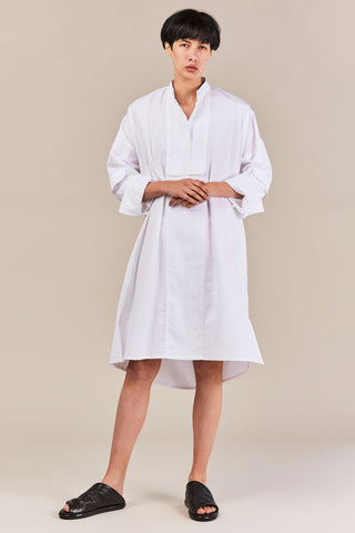 Dieth Washed Poplin Dress, White