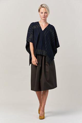 KAMEN v neck draped sweater