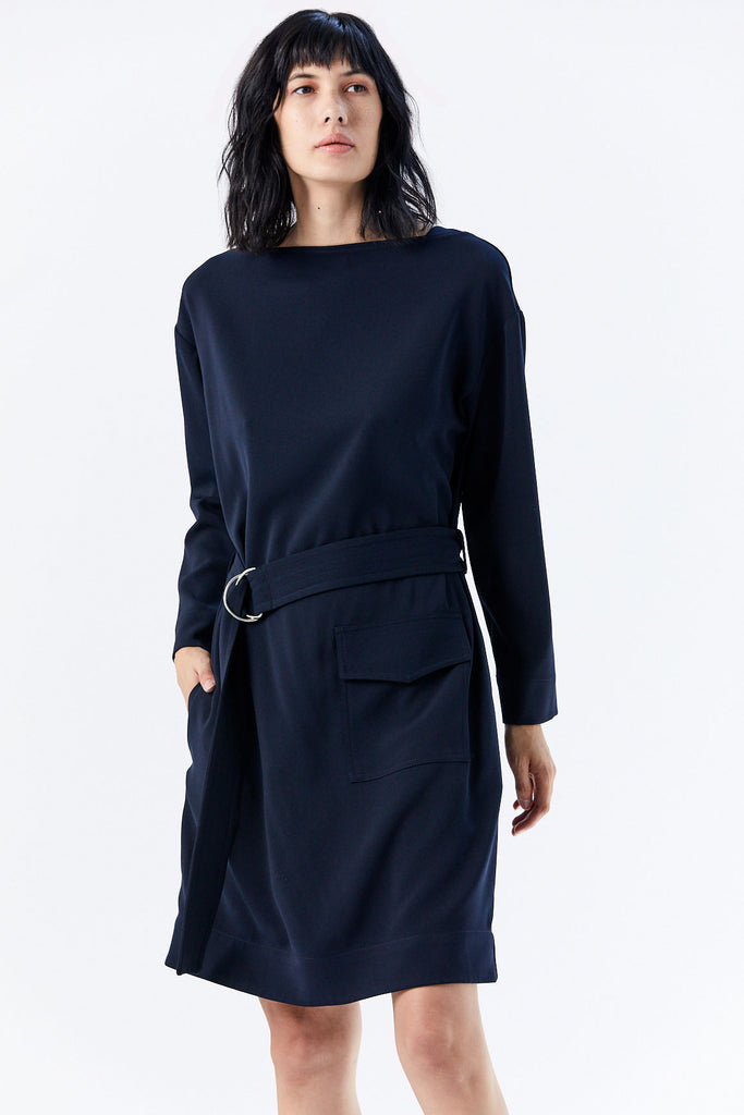 Nomia - Belted Pocket Dress, Midnight