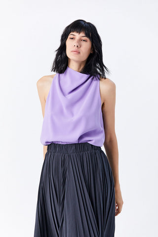 Cowl Neck Halter Top, Iris
