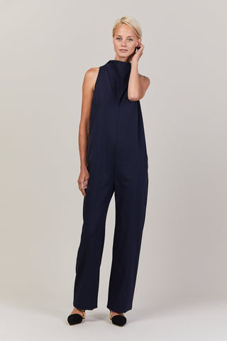 Cowl Neck Jumpsuit, Midnight