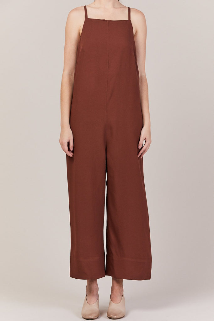 Nomia - Cropped Strap Jumpsuit, Clay