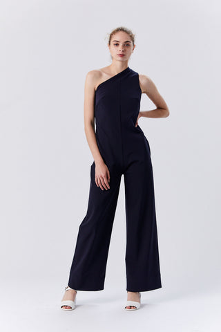 One-Shoulder Jumpsuit, Midnight