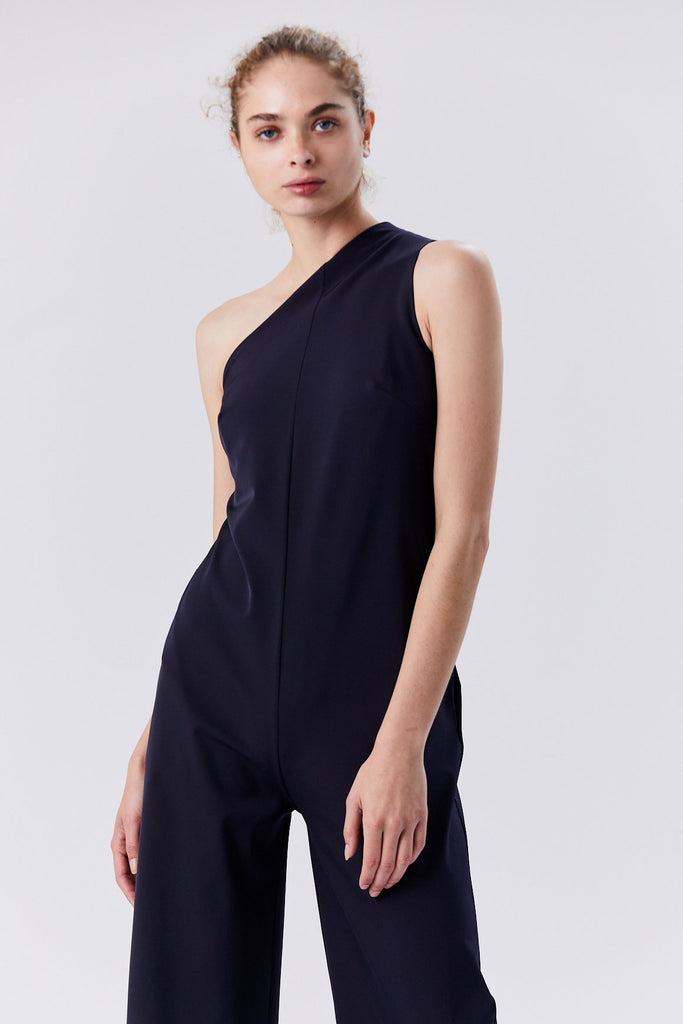 Nomia - One-Shoulder Jumpsuit, Midnight