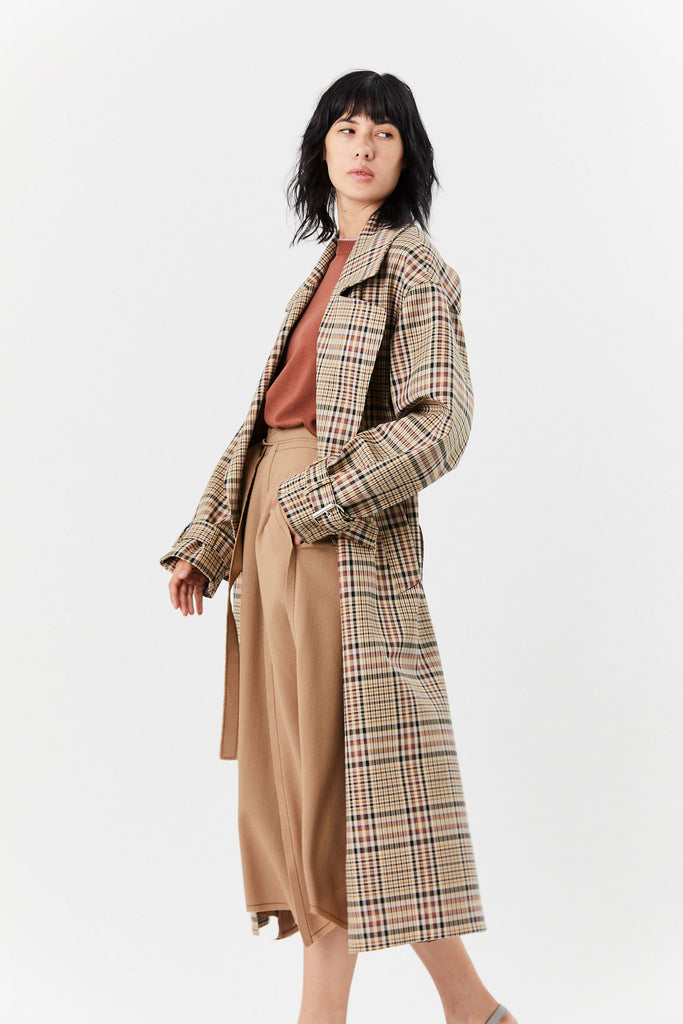 Oversize Trench, Plaid