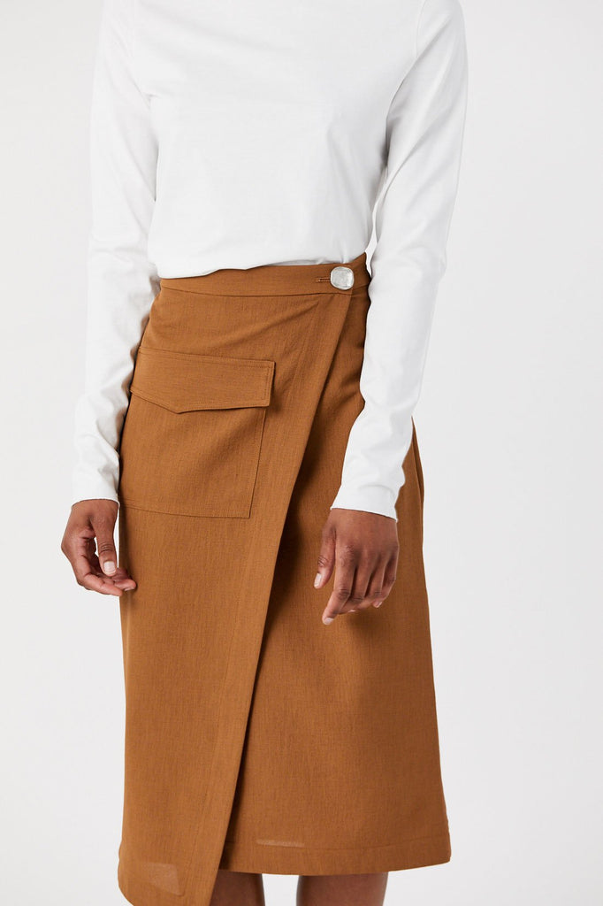Pocket Wrap Skirt, Copper