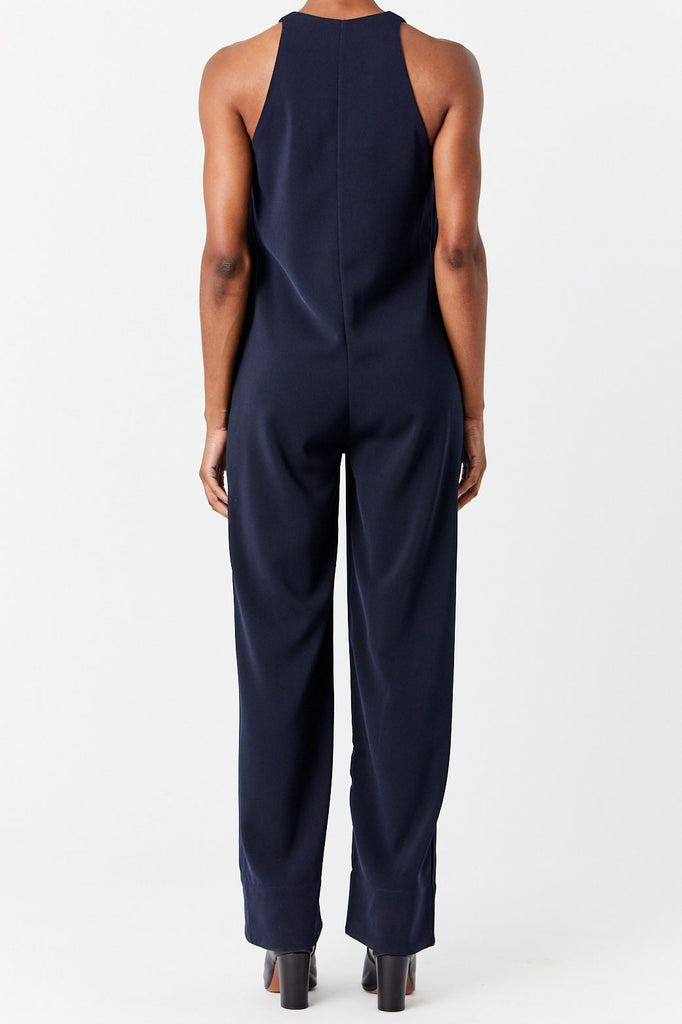Nomia - Zip Front Jumpsuit, Navy