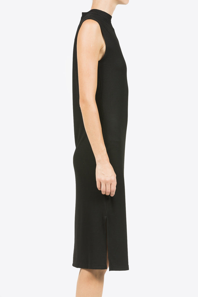 Midi Mock Neck Dress, Black by Nomia @ Kick Pleat - 6
