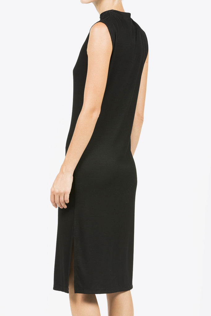 Midi Mock Neck Dress, Black by Nomia @ Kick Pleat - 5