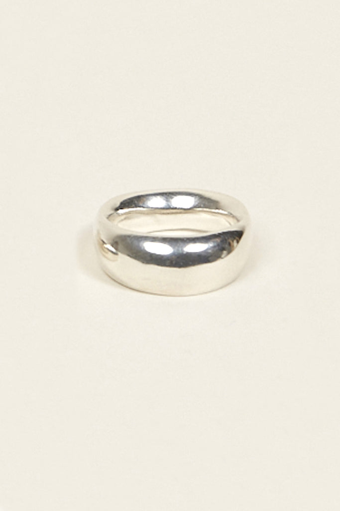 Odell Ring No. 2 Wide, Sterling Silver by URSA MAJOR @ Kick Pleat - 2