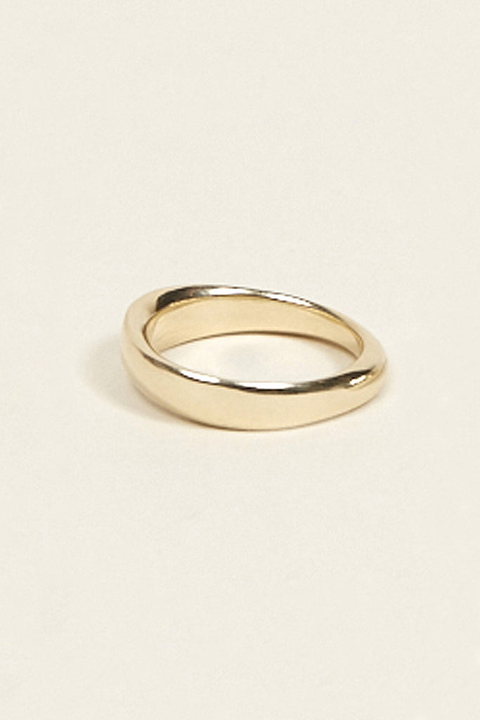 Odell ring No. 1 Narrow, 10k Gold by URSA MAJOR @ Kick Pleat - 2