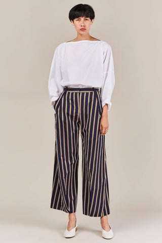 Cropped Serra Trousers, Blazer Striped